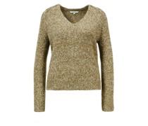 Seiden-Merino-Woll Pullover 'Saddle'