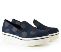 Denim Plateau-Loafer 'Binx' Blau