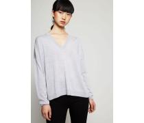 Klassischer V-Neck Pullover 'Kalla' Grau