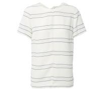 Gestreiftes Shirt mit Knoten-Details Weiß/Blau