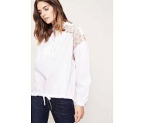 Tunika-Bluse Stickerei 'Jayne' Weiß