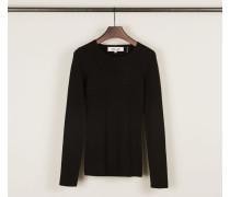 Klassischer Pullover Schwarz