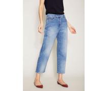 Jeans mit Nieten-Details Blau