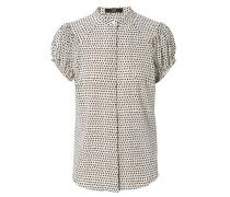 Blusen-Shirt mit Sternenprint Crème/Navy