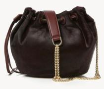 Bucket Bag 'Drawstring Mini' Rotbraun