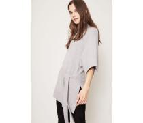 Cashmere-Pullover mit Bindeelement Silver Melange