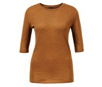 Cashmere-Pullover 'Lyv' mit Halbarm Hellbraun
