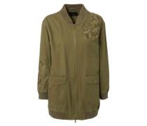 Jacke mit Stickereien Khaki