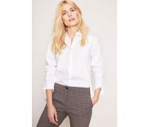 Bluse mit rückseitiger Kellerfalte Weiß