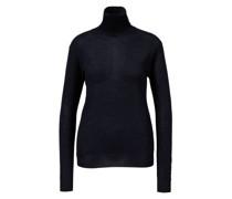Woll-Pullover mit Rollkragen Dunkelblau
