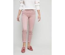 Baumwoll-Stretchhose 'Anja Midrise' Rosé