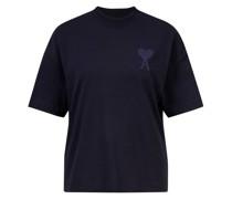 Baumwoll-T-Shirt Dunkelblau
