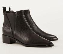 Spitze Boots 'Jensen Grain' Schwarz