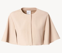 Bolero-Jacke in Cape-Optik in Nude