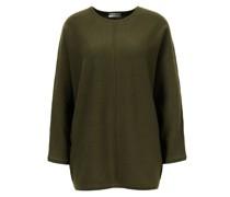 Cashmere-Pullover mit Dolman-Ärmeln Khaki