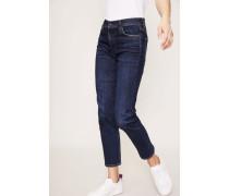 High Rise Cigarette Ankle Jeans 'Cara' Dunkelblau