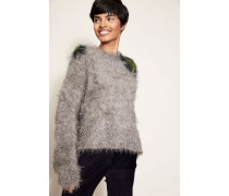 Flauschiger Pullover 'Fhira Hairy' Grey Combo
