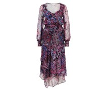 Chiffonkleid mit floralem Muster 'Carrillo' Violett