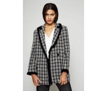 Tweed-Blazer mit ausgefransten Saumkanten Multi