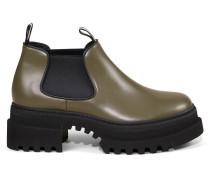 Boots 'Giordy' mit breiter Gummisohle Khaki