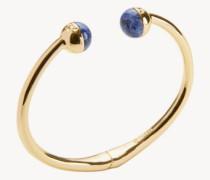 Armspange 'Logo Bead Hinged' mit Perlen Gold