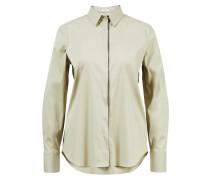 Klassische Bluse mit verdeckter Knopfleiste Khaki