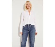 Seiden-Bluse 'Alessandra' Weiß