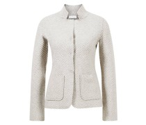 Woll-Blazer mit Muster
