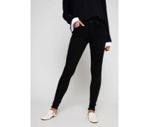 High Rise Skinny Jeans 'Rocket' Schwarz