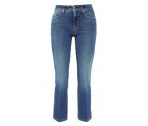 Straight Leg Jeans 'Paris Straight Short' Mittelblau