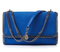 Fold-Over-Schultertasche 'Falabella Faux' Blau