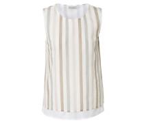 Shirt mit Streifen Grau/Weiß