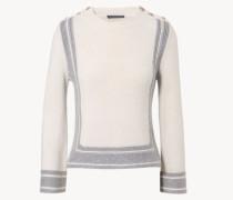 Cashmere-Pullover Grau/ Crème