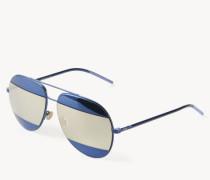 Verspiegelte Sonnenbrille 'Split' Blau/Ivory