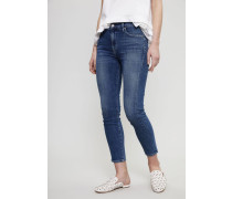High Rise Skinny Jeans 'Rocket Crop' Blau