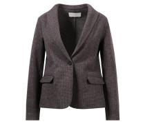 Woll-Seiden-Cashmere-Blazer mit dezentem Karomuster