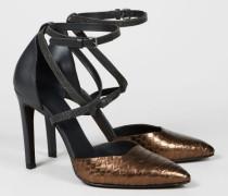 Hochhackige Schuhe 'Shiny Cross' Braun