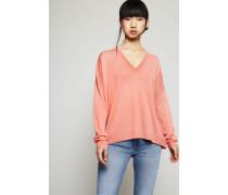 Klassischer V-Neck Pullover 'Kalla' Old Pink