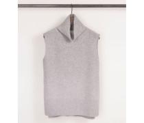 Cashmere-Pullunder Grau