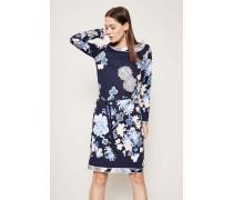 Seiden-Kleid 'Sacha P' mit floralem Print Blau/Multi