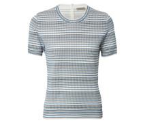 Strickshirt Weiß/Blau