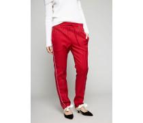 Hose mit weißer Absteppungsnaht Rot