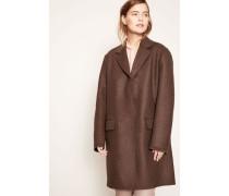 Mantel aus Schurwolle 'Nesper' Braun