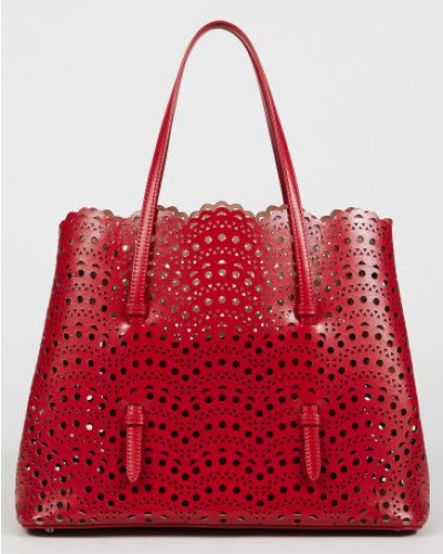 Alaïa Damen Tasche 'Min. Vienne' gestanztes Leder Rot - Leder