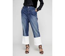 Jeans mit umgeschlagenem Saum Blau