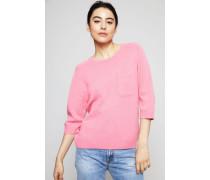 Cashmere-Pullover mit aufgesetzter Tasche Pink