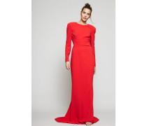 Langes Kleid mit tiefem Rücken Rot