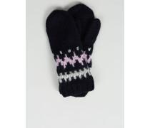 Handgestrickte Handschuhe 'Tarja' Marineblau