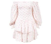 Minikleid 'Raelynn' mit Stickerei Rose/Weiß