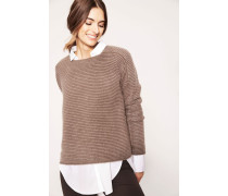 Grobstrick-Cashmere-Pullover 'Sara' Taupe